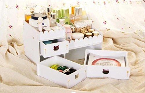 kosmetische-aufbewahrungsbox-racks-hautpflege-speicherschrank-schublade-holzkiste-farbe-weiss-