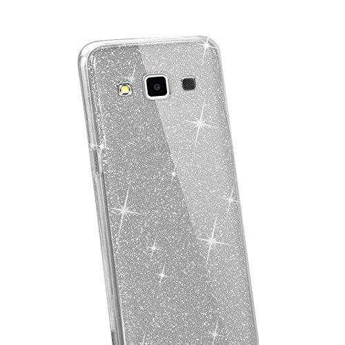 Custodia Samsung Galaxy E5 E5000 Cover Case , Vandot [360 gradi] 3 in 1 Protezione Completa Glitter Sparkle Bling Bling Trasparente Custodia per Samsung Galaxy E5 E5000 Cover Case Caso Gomma Ultra Sot 360 Nero