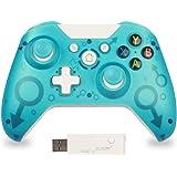 Manette sans Fil pour Xbox One, 2,4G Bluetooth Manette Compatible avec Xbox One/Xbox Series X/PS3/PC, Manette Ergonomique(Ver