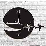 koyiyo Mein Flugzeug Flog Weg Wand Kunst Wohnkultur Wanduhr Fliegen Flugzeug Dekorative Wanduhr Abstrakte Kunst Espcape DIY Uhr Uhr
