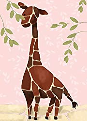 Oopsy Daisy Gillespie The Giraffe Pink by Meghann O Hara Canvas Wall Art, 10 by 14-Inch