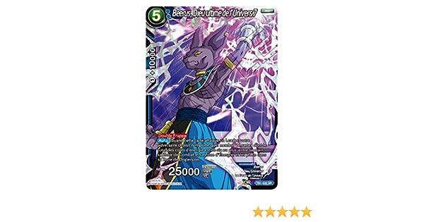 Beerus Dragon Ball Super Card Game Dieu Ultime de l/'Univers 7 TB1-030 VF//SR