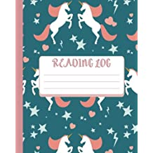 Reading Log : Gift For Book Lovers - Book Read Journal -Green Unicorn Cover 8x10 (110 Pages) - For Record Your Reading Book (Vol.9): Reading Log
