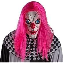 Carnival Toys 1456 Máscara Payaso de terror con pelo, color rosa, talla única