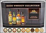 Cooley Set 4 Irische Whiskey Miniaturen (je 5cl) mit 9 DreiMeister Edel Schokoladen, kostenloser Versand