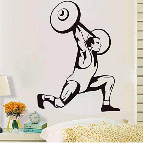 Lvabc 2017 Neue Design Wohnkultur Selbstklebende Vinyl Gewichtheben Wandaufkleber Sport Player Spezielle Dekorative Für Wohnzimmer Aufkleber 44X60 Cm