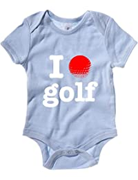 Cotton Island - Baby Bodysuit T0137 I LOVE GOLF