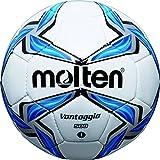 MOLTEN Minifußball - Balón de fútbol, Color (weiß/Blau/Silber), Talla 0