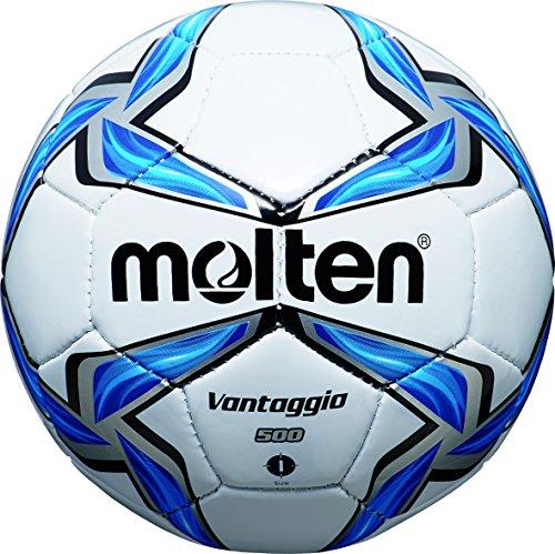 MOLTEN Minifußball - Balón de fútbol, Color Multicolor (weiß/Blau/Silber), Talla 0