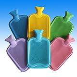 XL 2L Gummi Wärmflasche Bettwärmer Bettflasche Wärm Flasche Gummiwärmflasche in 6 Farben