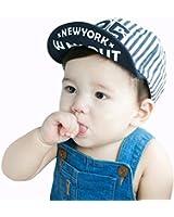 Millya Toddler Boy's Stylish Cute Baseball Cap Sun Hat, Infant Baby's Outdoor Cap Hat (Blue)