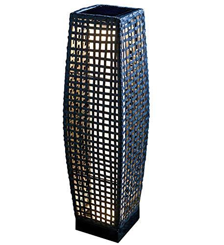 Retro Rattan Solar Boden Camping Lampe, Solar Patio Outdoor Garten Licht, schwarz
