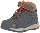 Jack Wolfskin Unisex-Kinder Portland Texapore Mid K Trekking-& Wanderstiefel, Grau (Orange Crush), 26