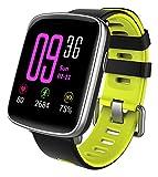 YAMAY Smartwatch Bluetooth Smart Watch Uhr mit Pulsmesser Armbanduhr Wasserdicht IP68 Fitness Tracker Armband Sport Uhr Fitnessuhr mit Schrittzähler