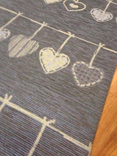 Tappeto cucina 53 x 300 shabby chic grigio cuori cuori for Tappeti country chic