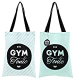 Gym & Tonic doppelseitig Tote Gym Beach Bag Slogan Shopper und Fitness
