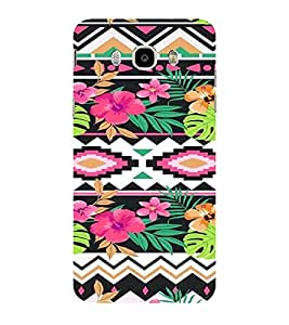 ifasho Animated Pattern colrful design flower with traditional design Back Case Cover for Samsung Galaxy On8