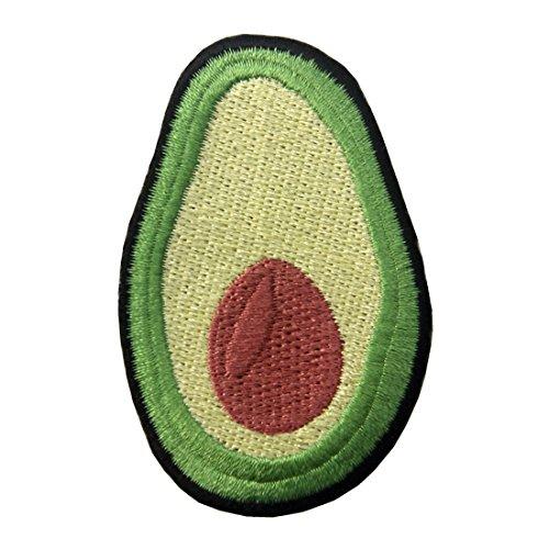 (Aufnäher, bestickt, Design: Avocado, zum Aufbügeln oder Aufnähen)