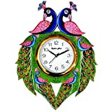 Kabir Art Elegant Wooden Wall Clock for Hall Home Living Room Office Bedroom (Multicolour, 14 x 13 inches)