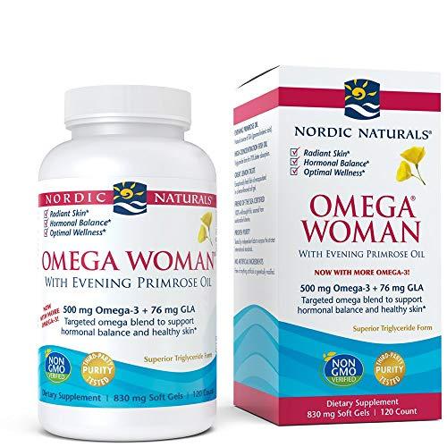 Nordic Naturals Omega Frau, Evening Primrose Oil Blend, 120 weiche Gele - 500 Mg 120 Gels