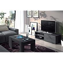 MUEBLE TV + MESA DE CENTRO GRIS CENIZA - LIVING COMPLETO,