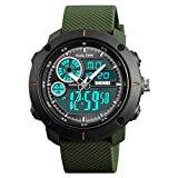 SKMEI T Analogue-Digital Black Dial Men's Watch 1361 Green