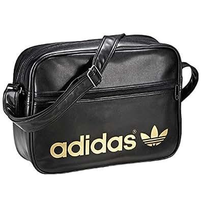 Adidas Originals Archive AC Airliner Messenger Black & Gold Shoulder Bag