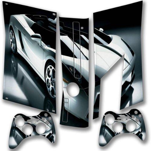 Sport Car, Designfolie Sticker Skin Aufkleber Schutzfolie mit Farbenfrohem Design für XBOX 360 Slim (Xbox 360-spiele Xcom)