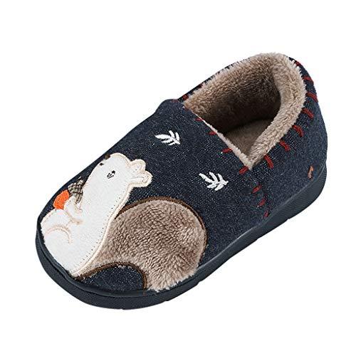 LEXUPE Kleinkind Schuhe Baby Junge Mädchen Weiche Sohle Leinwand Sneaker(Marine,140)