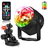 LED Party Lights Disco Ball Light 5 W LED Portable Sound Activated Party Lights Stage Lighting Built in Battery Festival Bar Club Party Outdoor USB Remote Control 7 Color(mit batterie)