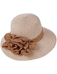 Bohemia Verano Sun Floppy Mujer Sombrero de la Playa de la Paja del Borde  Grande Ancho Cap Moda de Viajes Vacaciones De Ala Ancha… 9b817385bbbe