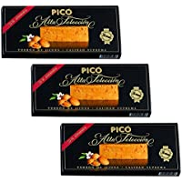 Picó - Pack incluye 3 Turron de Jijona - Turron blando caja negra - Calidad superior 200gr