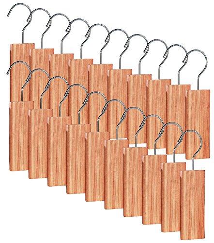Zeder-schlafzimmer-set (infactory Mottenschutz: Große Zedernholz-Blöcke mit Metallhaken gegen Motten, 20er-Set (Zedernholzblöcke gegen Motten))