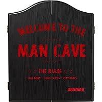 Winmau Man Cave Cible de fléchettes Cabinet–s'adapter à tous les cibles en poils–Les règles