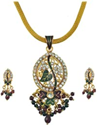 Aakhi golden Metal 3-piece Jewellery Set for Women
