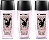 Playboy Woman Sexy Deo Natural Spray, 3er Pack (3 x 75...