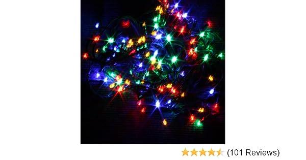 Kingfisher 100 LED Multi Coloured Christmas Tree Indoor /& Outdoor Fairy Lights