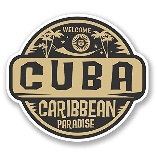 Preisvergleich Produktbild 2x Kuba Karibik Vinyl Aufkleber Aufkleber Laptop Reise Gepäck Auto Ipad Schild Fun # 5716 - 25cm/250mm Wide