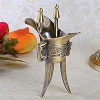 pengweiIdeas de regalo artesanía de metal de bronce retro taza de cristal Jazz , 40 ml