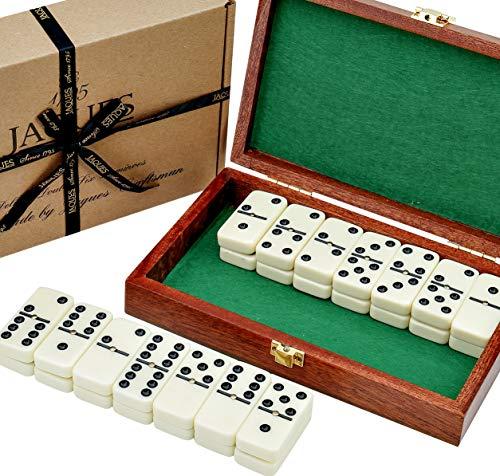 Domino - Domino Spiele - Sechs Domino Set in Mahagoni-Etui - spiel des jahres- Jaques of London