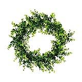 Tianya | Corona Verde | Simulazione Artificiale Della Ghirlanda Della Pianta Verde Simulazione Della Decorazione Domestica Dell'Erba Verde Della Pianta | Corona Di Foglie Di Eucalipto | Verde