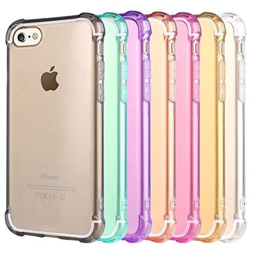 ARTLU® iPhone 6S Hülle iPhone 6 Schutzhülle Case Stoßfeste Transparent Handyhülle Schutzhülle Durchsichtig TPU Crystal Clear Case Backcover Bumper Slimcase A06 A7