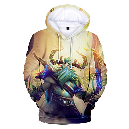 Kostüm 2 Dota - RJHWY 3D Hoodie Sweatshirt Unisex Pullover Kapuzenjacke Kleidung Mantel HD Anime Top (XXS-3XL) Dota 2 Auto Chess M