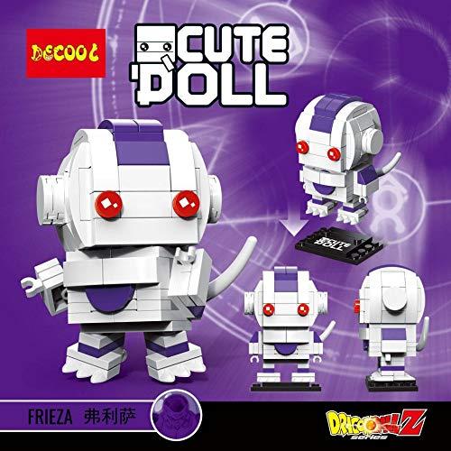 CuteDoll Figura de Freezer Dragonball Dragon Ball Puzzle Juego Bloques de construccion tamaño 9 cm DIY Mini Building Puzzle Juguete niños colección