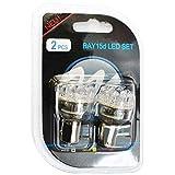 2x pièce ampoule LED blanc BAY15D 12V Ampoule indicateur de frein de stationnement de la lumière feu arrière lumière 24LED LB038W emballage blister