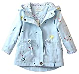 Arrowhunt Little Girls Long Sleeve Embroidery Windproof Hooded Jacket