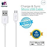 Digishopi™ Premium Quality 2.1Amps Fast Charge & Sync Round V8 (1M/3.3ft) Micro USB Data Cable Compatible With Alcatel One Touch Idol Ultra - White