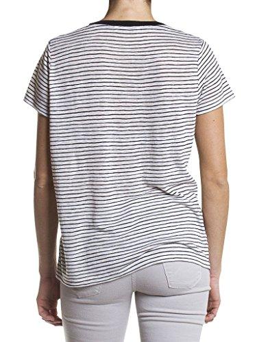 Carrera Jeans - T-Shirt T8770383A für frau, loose fit, kurzarm N09 - Fancy Streifen Garn Gefärbt