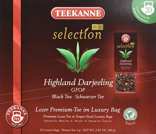 Teekanne Selection 1882 im Luxury Bag - Darjeeling - zart, blumig, 20 Portionen, 1er Pack (1 x 80 g)