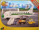 Flugzeug mit 2 Figuren + Transportwagen mit Anhänger 350 Bausteine Bausatz Cobi Limitierte Edition 1984